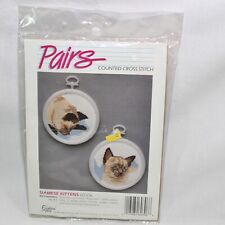 Golden Bee Counted Cross Stitch Kit - Siamese Kittens 60306 - w/ Frames -  PAIRS