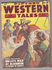 Fifteen Western Tales Sep 1952 Pulp - Bloody an' Peaceable - George C Appell