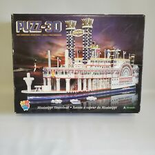 "Wrebbit 3-D ""Mississippi Steamboat"" 718 Piece Jigsaw Puzzle COMPLETE"
