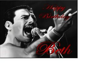 Personalised Freddie Mercury Queen  Birthday card A5 any name age greeting