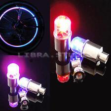 4x Bouchon de Valve Clignotant Roue Pneu LED Lampe Lumineux Moto Bicyclette Vélo