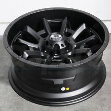 20x9 Satin Black Wheels Vision 415 Bomb 5x150 12 (Set of 4)