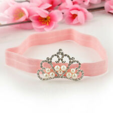 Newborn Baby Kids Girl Toddler Princess Pearl Headband Crown Hair Band Head Hot