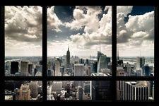 New York Window Poster Print, 36x24