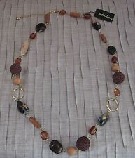 Cookie Lee Genuine Shell and Crochet Beads Necklace with Tag and Signature