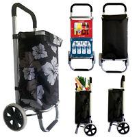 Einkaufswagen Einkaufstrolley Trolley Einkaufsroller Aluminium klappbar Tasche F