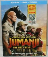 Jumanji The Next Level - Blu-ray/DVD/Digital - New with slip cover