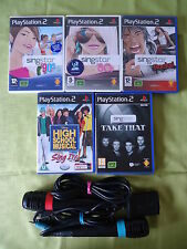 PS2/PS3 Singstar Karaoke Bundle 80's/90's/Rocks/Take That/High School & Mics VGC