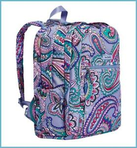 Vera Bradley KONA PAISLEY - LAVENDER - Lighten Up GRAND Backpack NWT $115