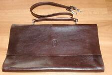 Braune Handtasche/Tragetasche - Echtes Leder - Neu