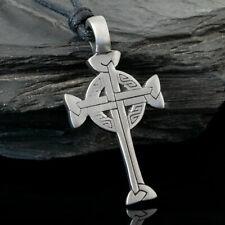 Das höchste Kreuz der Kelten Ketten Anhänger mit 55 cm Rinds Leder Kette