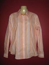 Van Heusen Women's Wrinkle Free Orange Striped Button Up Shirt - Medium - NWT