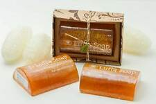X6 Saibua Luffa Soap Thai Herbal Turmeric Tamarind Honey Scrub Luffa Soap 100 g