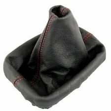 SEAT TOLEDO MK2 LEON MK1 1999-05 RED STITCH GEAR GAITER GAITOR BLACK LEATHER NEW