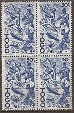 COTE D'IVOIRE 3 blocs de 4 Timbres. neufs N°YT 237  de 1947   150T2