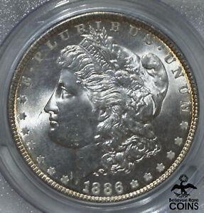 1886 USA $1 Morgan Dollar Silver Coin PCGS MS66 GEM UNCIRCULATED BEAUTY!