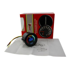 20 LED DIGITAL CAR AUTO AIR / FUEL RATIO MONITOR RACING GAUGE ANALOG 2'' 52MM