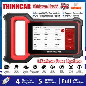 Thinkscan Plus S6 Car Oil EPB SAS ETS TPMS Diagnostic Reset Tool OBD2 Scanner UK