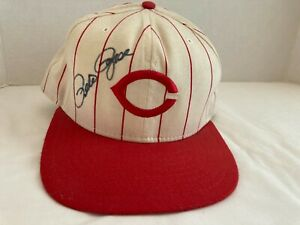 PETE ROSE SIGNED CINCINNATI REDS NEW ERA PRO MODEL Snapback Baseball Cap