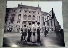 """'YANKEE BOYS' 20"""" x 16"""" B & W poster by Corbis """"Respect for the Babe"""" 8/17/48"""