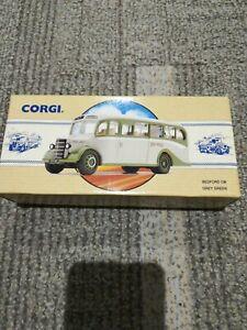 Corgi Classic Commercial Bedford OB Grey Green Bus Toy