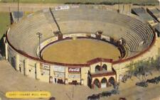 JUAREZ MEXICO BULL RING COCA-COLA SIGN POSTCARD (c. 1920s)