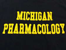 MICHIGAN PHARMACOLOGY T SHIRT sz L drug store pharmacy university college