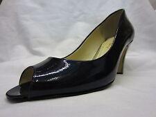 Peep Toe Patent Leather Slim Heel Shoes for Women