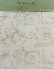 ANNA GRIFFIN WEDDING STUDIO Program Paper - Green Scrolling Paisley - 24ct