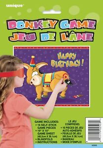 Pin The Tail Donkey Party Game (Up to 16 people)