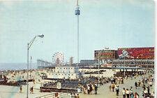 E4/ Atlantic City New Jersey NJ Postcard Chrome 1972 Sky Tower Amusement Rides 6