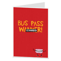 Funny Inbetweeners Birthday Card Bus Pass For Brother Sister Best Mate BFF Joke