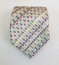 Duchamp London Men's Multi-Color Circles Spotted Silk Necktie Neck Tie 57L 3.5W