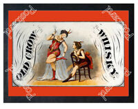 Historic Old Crow whiskey 1870 Advertising Postcard