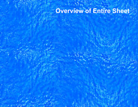 O Scale Water Model Train Scenery Sheets –5 Seamless 8.5x11 Coverstock Lt Blue