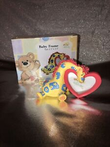 """Little Suzy's Zoo Heart Picture Frame Patches Giraffe New! 2.5""""x 2.5"""""""