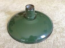 "VINTAGE GREEN ENAMEL LIGHT FIXTURE SHADE  14"" DIAMETER"