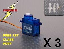 3 x Turnigy TG9e 9g / 1.5kg Micro Servo RC Car Plane Heli Quad - (not TG9z)