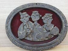 rare JUDAICA VINTAGE FRANK MEISLER SCULPTURE WALL HANGING  CAST METAL stamped