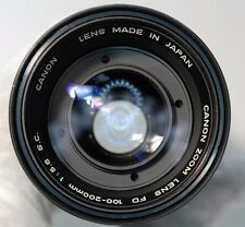 Canon FD 100-200mm f5.6 SC lens manual focusing zoom telephoto