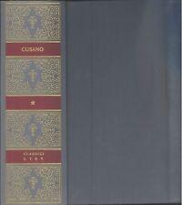 CUSANO, Niccolò, Opere filosofiche. UTET classici della filosofia 1972
