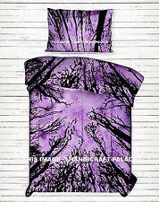 Indian Purple Duvet Doona Cover Dark Forest Hippie Bohemian Twin Quilt Comforter