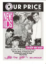 New Kids On The Block Step (OP) UK magazine ADVERT/Poster/clipping 11x8 inches
