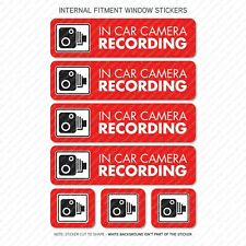 7 x Dash Cam Recording Stickers CCTV In Car Camera - Window Sticker - UV3087