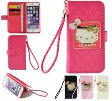 Hello Kitty Wallet Case W Straps For iPhone 7/7+/8/X & Samsung S7/S7Edge/S8/S8+