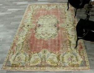 Bohemian Ethnic Oriental Carpet Turkish Vintage Handwoven Wool Area Rug 5x9 ft