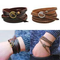 Damen Wickelarmband Frauen Lederarmband Armband