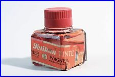 original 1930er ROTE PELIKAN Tinte GÜNTHER WAGNER / Red INK GERMANY made