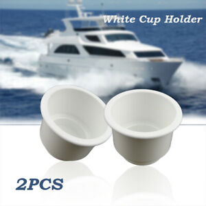 2PCS Car White Cup Drink Can Holder Bottle Plastic For Boat Car RV Marine Tiered