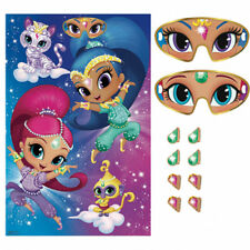 SHIMMER AND SHINE PARTY GAME POSTER ~ Birthday Supplies Decorations Activity